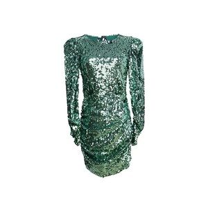 Green sparkling dress